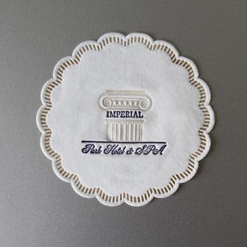 салфетки с логотипом: